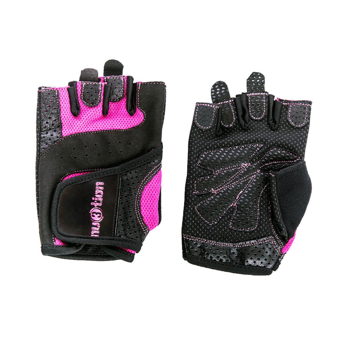 nu3tion Fitness rukavice dámské růžové M - nu3tion